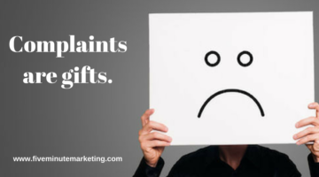 Seeing complaints as gifts on social media