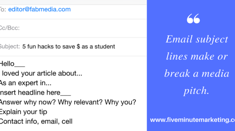 Email subject lines make or break a media pitch