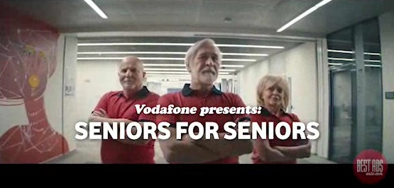 Disruptive creative from the Czech Republic: Vodofone sells cell phones to seniors